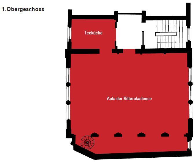Grundriss Aula der Ritterakademie