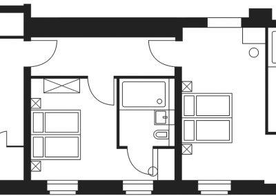 Grundriss-Gästezimmer